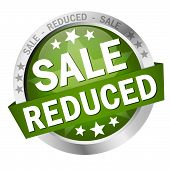 Button With Banner Sale Reduced