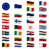 Eu Member States - Flags Swung