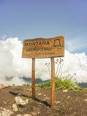 Machu Picchu Mountaintop Wood Sign