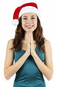 Christmas Yoga Woman Meditating