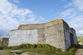 Bunker ruins in Juno Beach, Courseulles sur Mer, Normandy, France