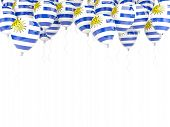 Balloon Frame With Flag Of Uruguay
