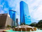 Bob and Vivian Smith fountain in Houston downtown Texas US