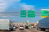 Houston Katy Freeway Fwy traffic 10 interstate in Texas USA US