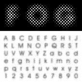 original vector dotted halftone raster font