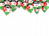Balloon Frame With Flag Of Western Sahara