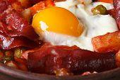 Baked Eggs With Chorizo, Potatoes And Tomatoes, Macro