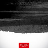 Vector Abstract Watercolor Background. Black And White Backgroun