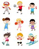 Group of sport kids