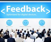 Business People Feedback Seminar Concept