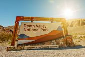 pic of nationalism  - Death Valley National Park Entrance Sign - JPG