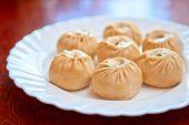 stock photo of mongolian  - Buuza is a Buryat or Mongolian national dish - JPG