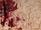 stock photo of taint  - crumpled paper with blots  - JPG