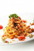 picture of pesto sauce  - Vegetarian Tagliatelle with Cherry Tomato and Pesto Sauce - JPG