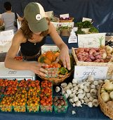 picture of farmers market vegetables  - Farmer