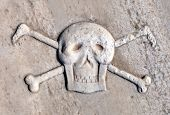 image of skull crossbones flag  - Ancient Pirate Skull and Crossbones - JPG