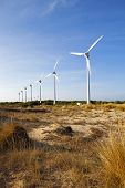 pic of generator  - Wind Generator with blue sky Bozcaada TURKEY - JPG