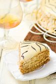 stock photo of torte  - Esterhazy Torte - JPG