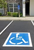 picture of handicapped  - Area on street showing handicapped parking area - JPG
