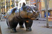 image of metal sculpture  - BARCELONA  - JPG