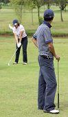 Par de jogadores de golfe