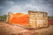 picture of recliner  - Giant Reclining Buddha in Wat Lokayasutharam - JPG