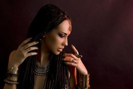 stock photo of dreadlock  - Fashion Beauty - JPG
