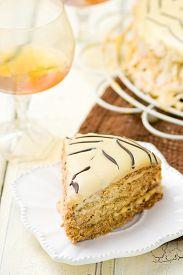 stock photo of torte  - Esterhazy Torte - JPG