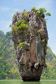 foto of james bond island  - Khao Phing Kan is a pair of islands on the west coast of Thailand in the Phang Nga Bay Andaman Sea near Phuket - JPG