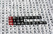 stock photo of enterprise  - ERM Enterprise Risk Management writen on black and white dices - JPG