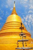 stock photo of buddhist  - Wat Saket is famous Buddhist temple in Bangkok Thailand - JPG