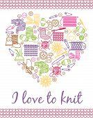 pic of knitting  - I love knitting heart - JPG