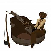 Female Jazz Player Illustration