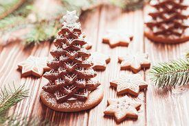 picture of icing  - Gingerbread cookies - JPG