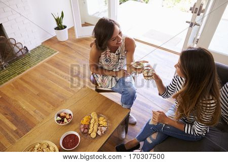 Two Female Friends Socializing Together