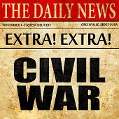 civil war, newspaper article text poster