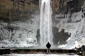 Photographer At Taughannock Falls