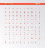 Ui Ux Code Production Icons poster
