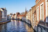 Canal Bruges,belgium