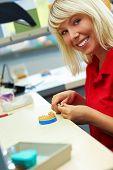 Dental Technician Grinding