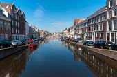 Canal In Leiden, Netherlands