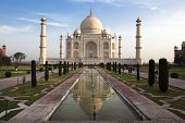 Taj Mahal in Agra rajasthan state in india