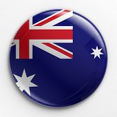 3d rendering of a badge with the Australian flag