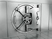 3d rendering of a bank vault