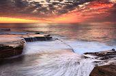 Maroubra Cascades Australia Scenic Sunrise poster