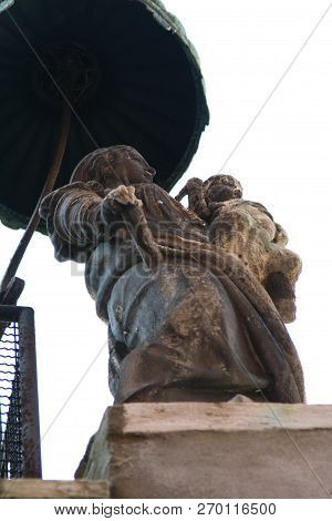 Venice Statue Of Madonna With