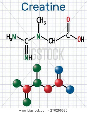 Creatine Molecule Structural Chemical Formula