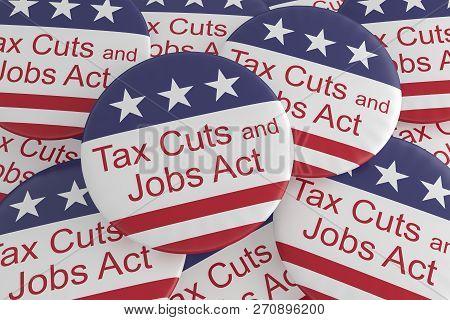 Usa Politics News Badges Pile