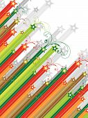Christmas Swirls Diagonal Shooting Stars (Vector)