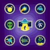 Fashion Patch Badges With Star, Aircraft, Astronaut, Ufo, Rocket And Other. Large Set Of Girlish And poster